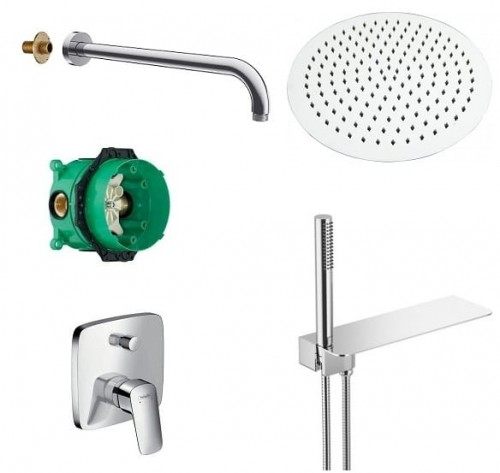 Hansgrohe Logis  + SET CLIF Oval deszczownica